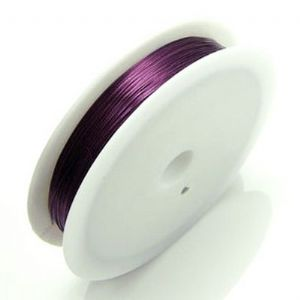 Bronze thread, Copper, Dark purple, 15m, 0.4mm, (TDX029)